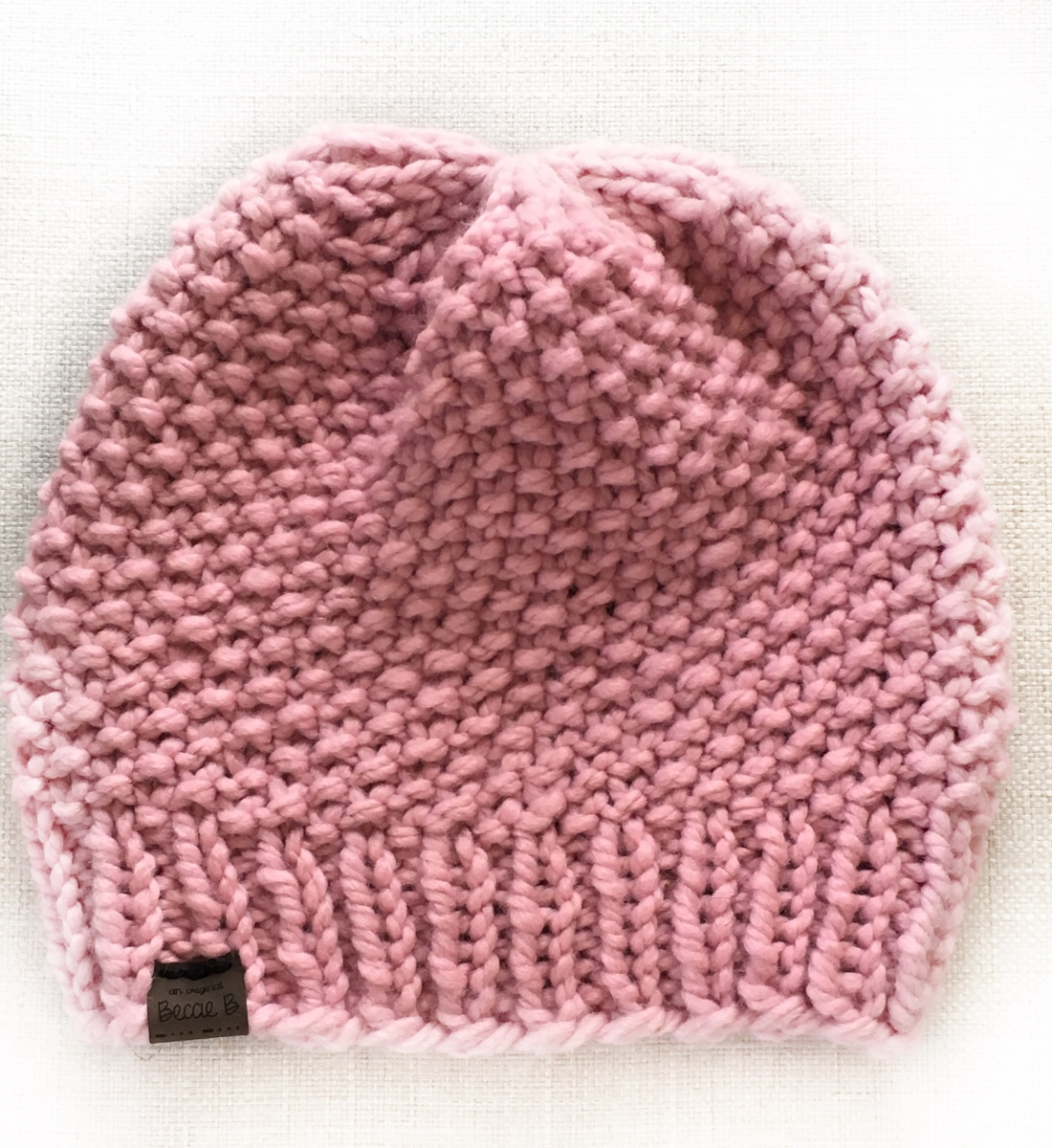 Free Knitting Pattern Simple Seed Stitch Beanie Hat